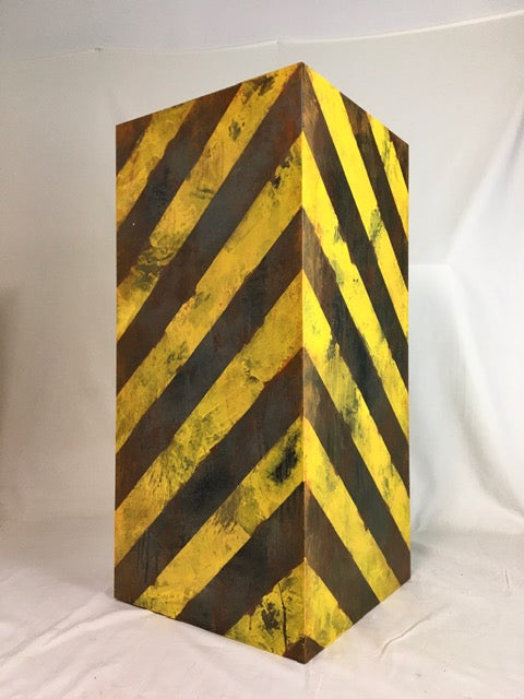 Pedimental- Caution Stripes Painted Finish.