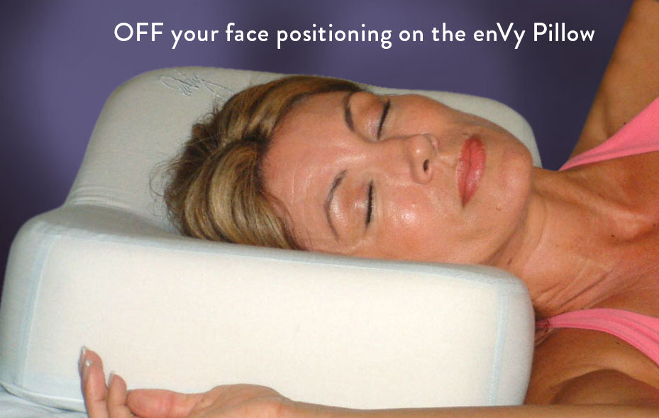 Side Sleeping on the enVy anti-wrinkle pillow