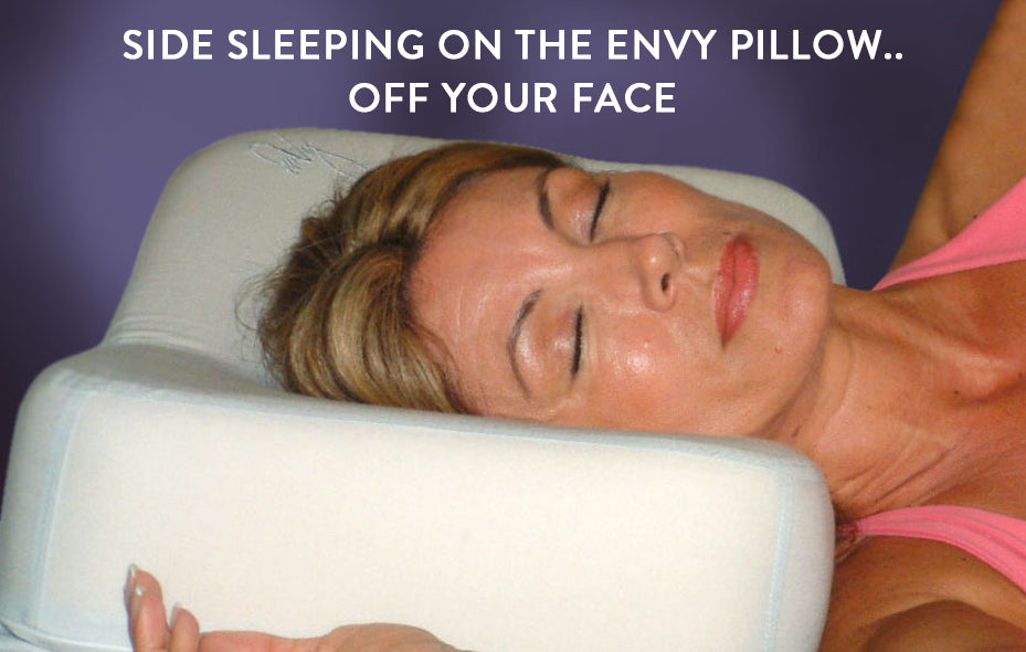 SIDE SLEEPING ON THE ENVY PILLOW