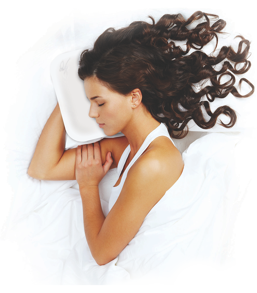 Sleeping Women having her beauty sleep time with enVy Pillow 1