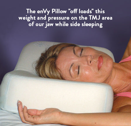 Side sleeping on the enVy Anti-aging Pillow