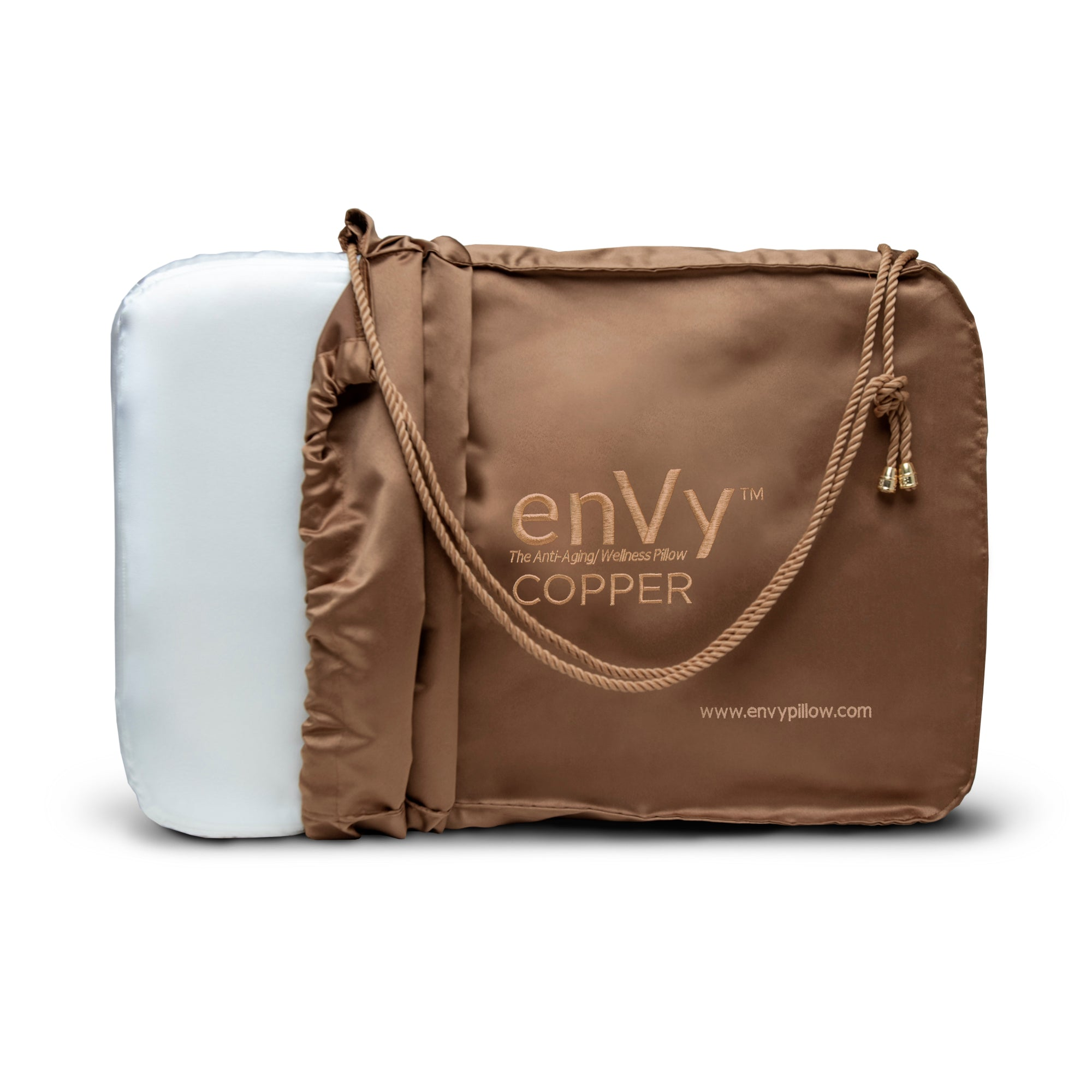 enVy Anti-Aging Copper Pillow with Bamboo Pillowcase