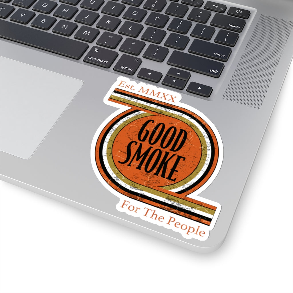 "Good Smoke Transparent Die-Cut Stickers - 4""x4"""