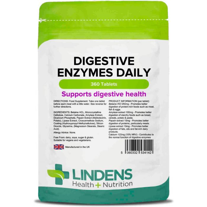 Digestive Enzymes Daily Tablets (Pack 90)