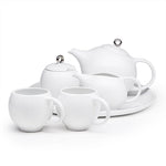EVA 6-piece tea set - White porcelain