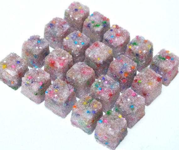 Vanilla Birthday Cake Sugar Cubes