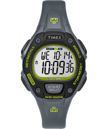 Women's Timex Ironman Classic 30 Lap Digital Watch - Grey/Lime