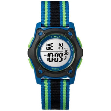 Timex Time Machine Kid's Digital Blue/Black/Green Watch - 7C260