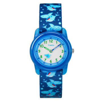 Timex Kids Analog Blue Shark Watch - TW7C13500