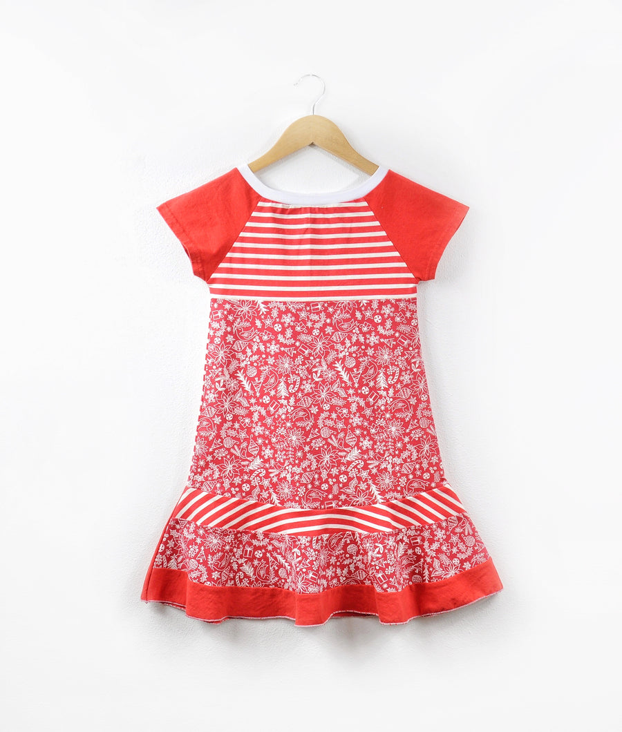Red and White Holiday Dress size 4/5