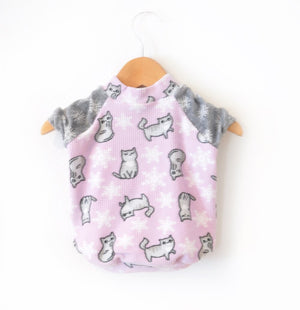 Fleece Kitties Dog tee Sizes Small & Medium