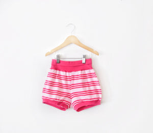 Pink Striped Shorts size 6/7