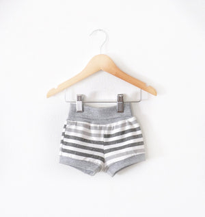 Grey Striped Shorts size 3 months