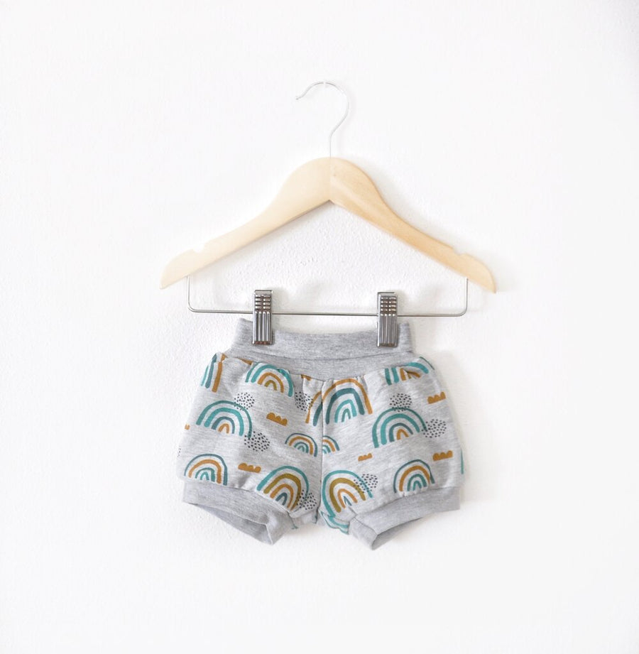 Organic Knit Rainbow Shorts sizes 3 months-8/9