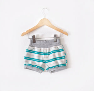 Green Striped Shorts size 12 months