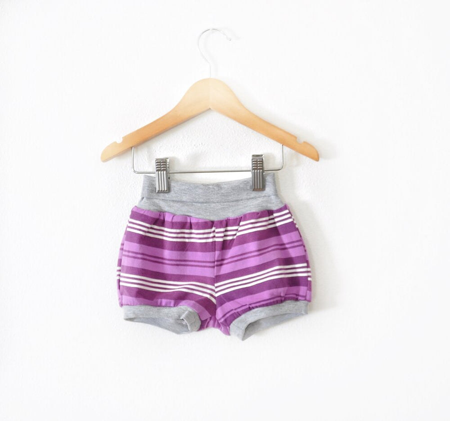 Purple Striped Shorts size 12 months