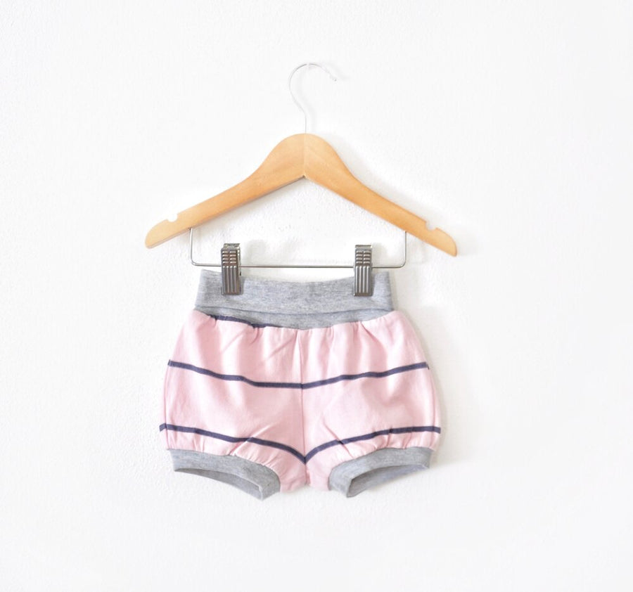 Pink & Navy Striped Shorts size 12 months