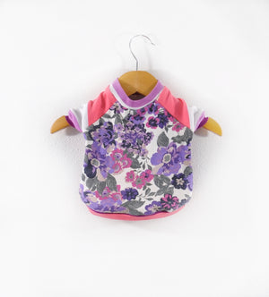 Purple Floral Dog Tee size X-Small