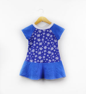 Blue Snowflake Holiday Dress Size 18 months