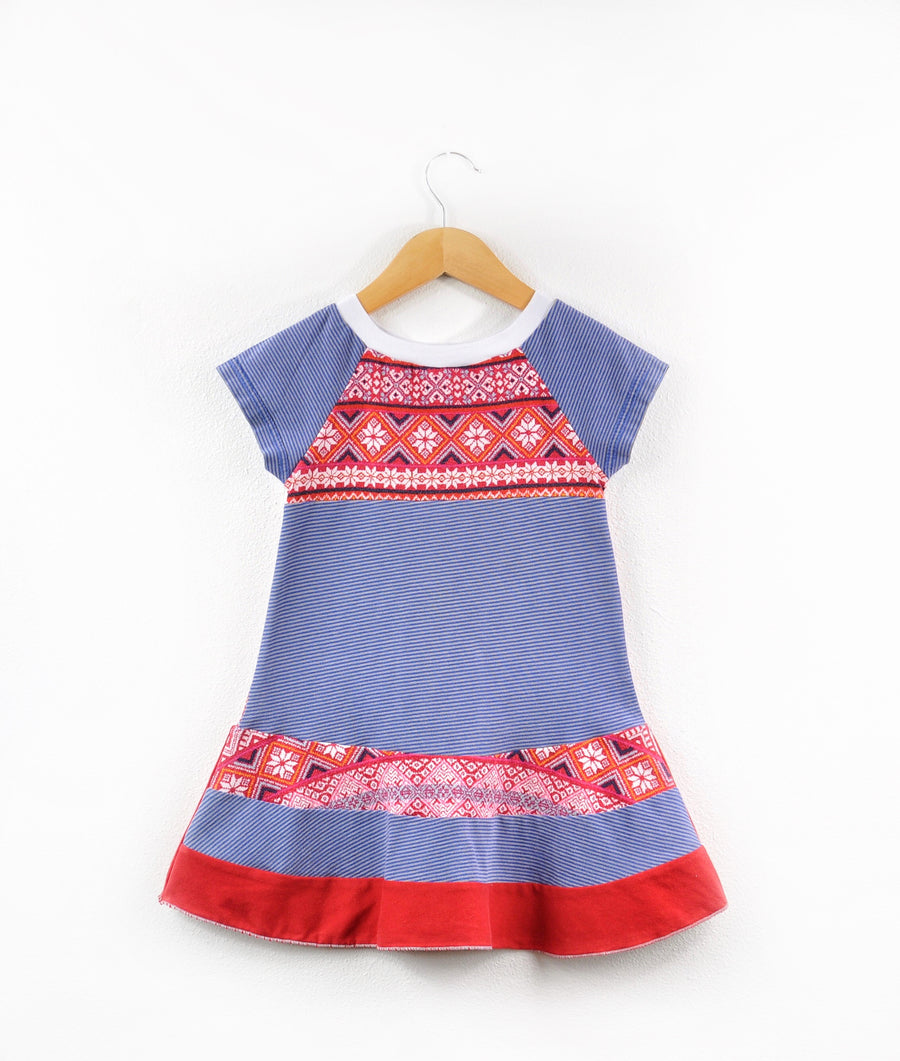 Blue and Red Dress size 2/3