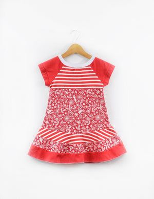 Red & White Holiday Dress size 2/3