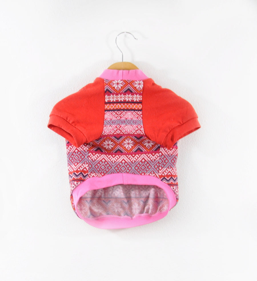 Pink & Red Holiday Dog Tee size Large