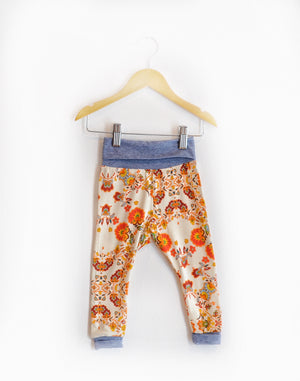 """Grow With Me Leggings"" Orange Floral size 18 Months"