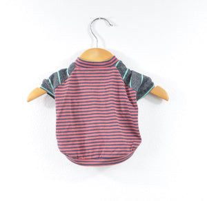 Red Striped Dog Tee Size XSmall