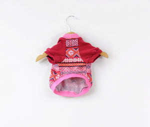 Pink and Red Holiday Dog Tee Size X-Small