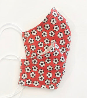 Adult & Child Sized Soccer Fabric Face Covering