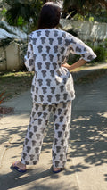 Grey Elephants Pyjama Set