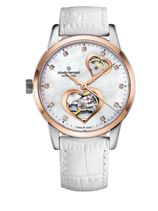 Claude Bernard 85018 37R BPR2 Open Heart Automatic Ladies Watch
