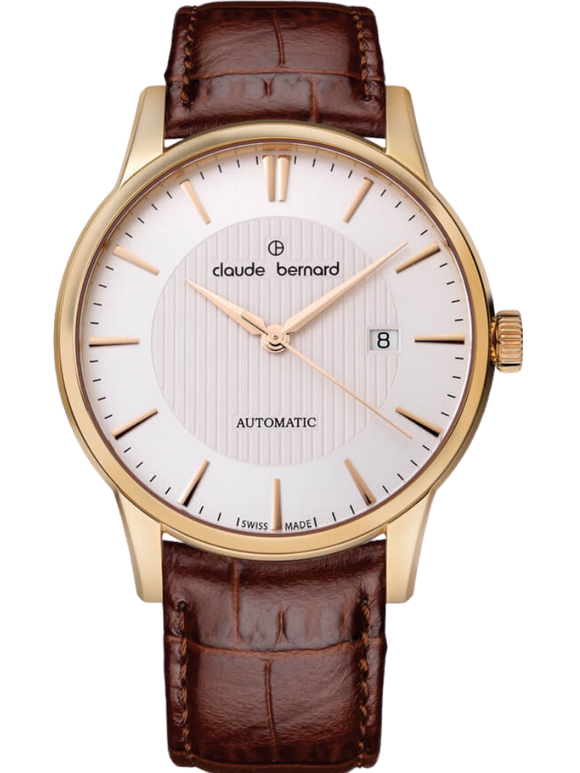 Claude Bernard 80091 37R AIR Automatic Gold Brown Watch