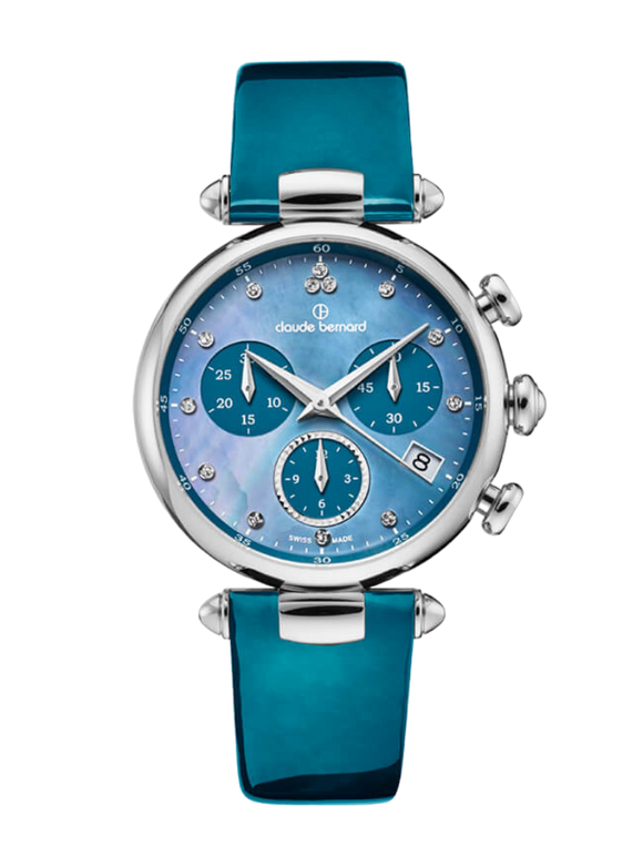 Claude Bernard 10215 3 NABUDN Blue Ladies Watch