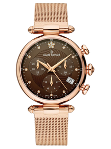 Claude Bernard 10216 37R BRPR1 Gold/Brown Lady Chronograph