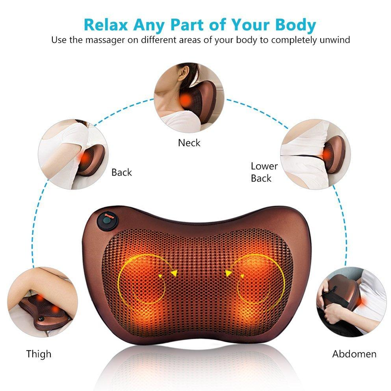 Car and Home Infrared Self Rotating-Rolling Massager