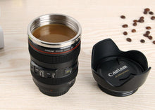 Load image into Gallery viewer, Camera Lens Mug with Biscuit Holder
