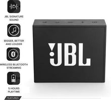 Load image into Gallery viewer, JBL Go PLUS Portable Bluetooth Speaker  (Black, Mono Channel)#JustHere