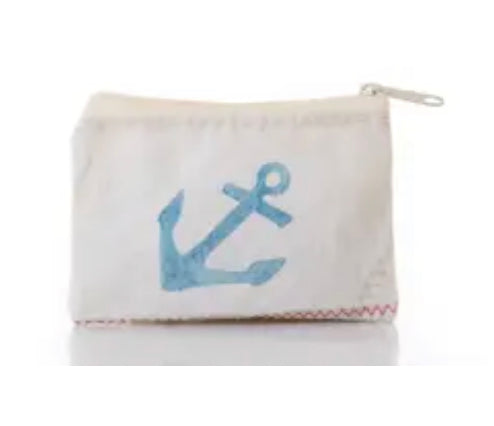 Sea bags navy anchor change purse