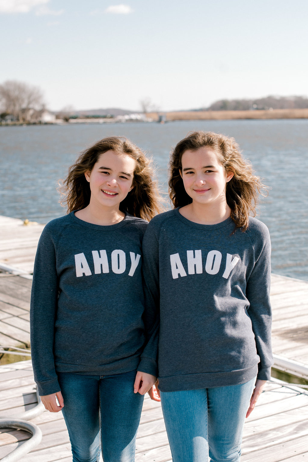 You, Me & The Sea ahoy crewneck