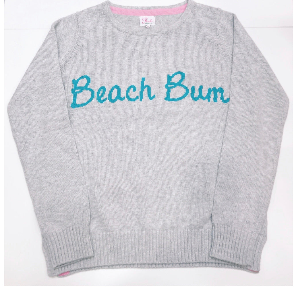 Pink pineapple beach bum sweater