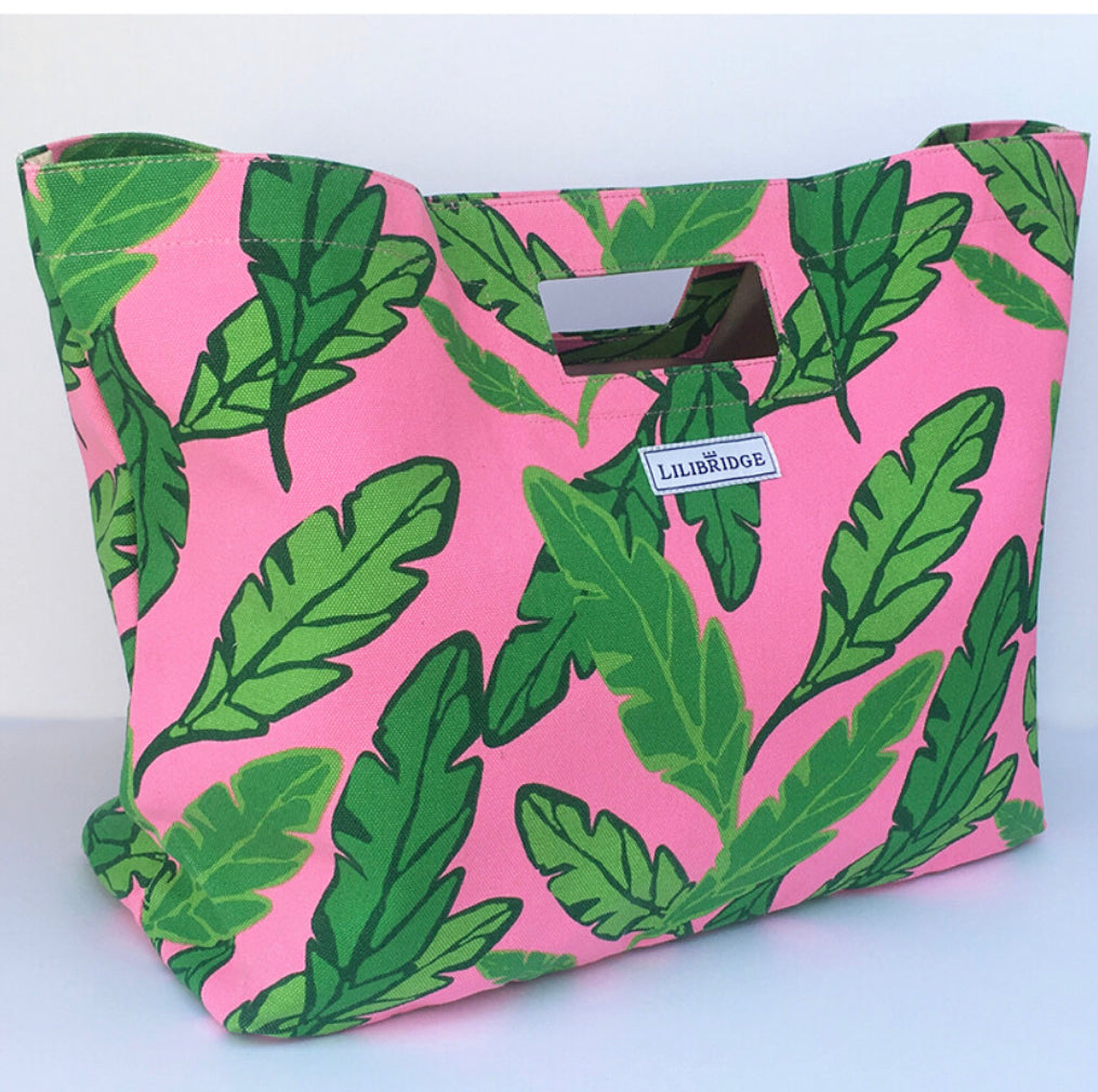Lilibridge Lotta Leaf Pink Bag