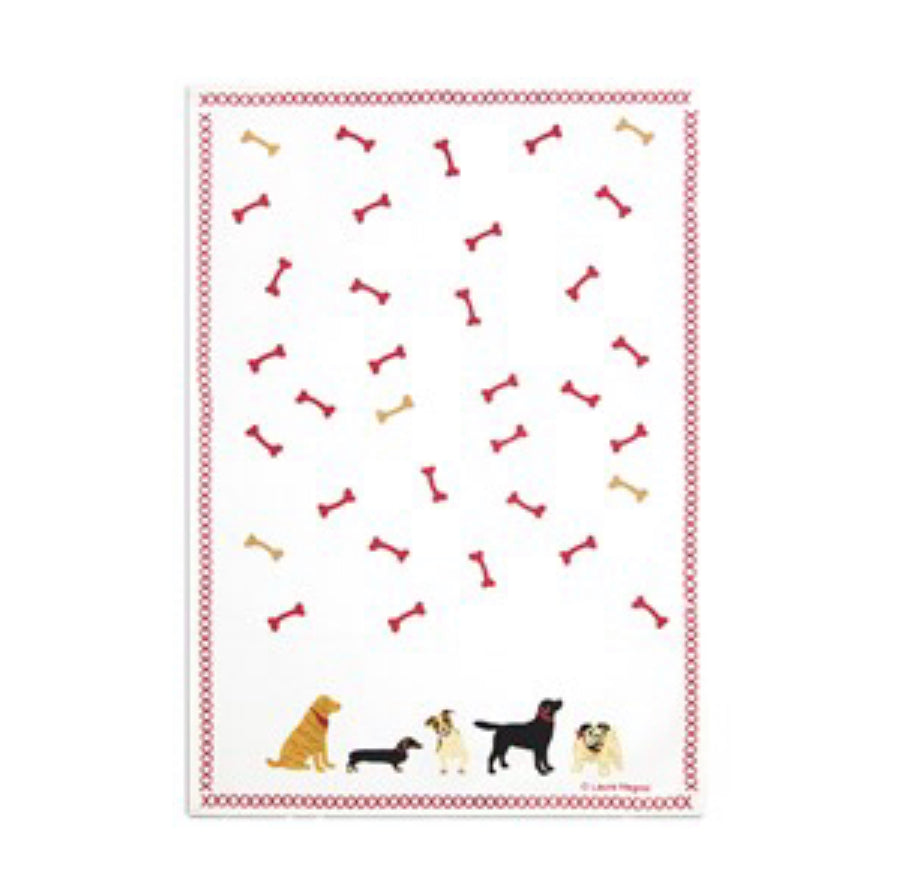 Dogs welcome kitchen towel