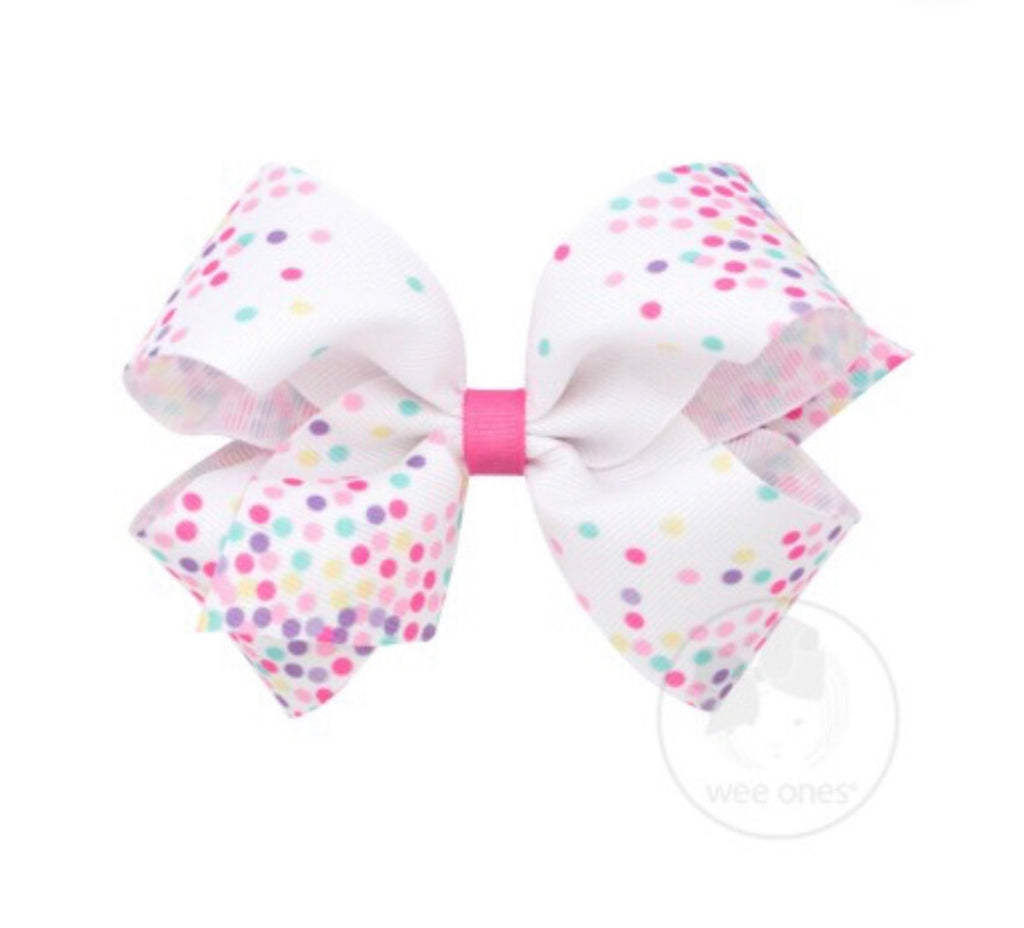Wee ones confetti grosgrain bow