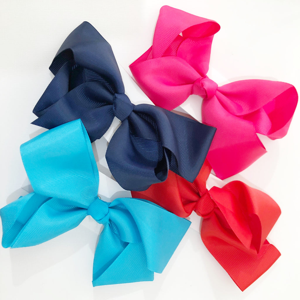 Large ribbon hair bow