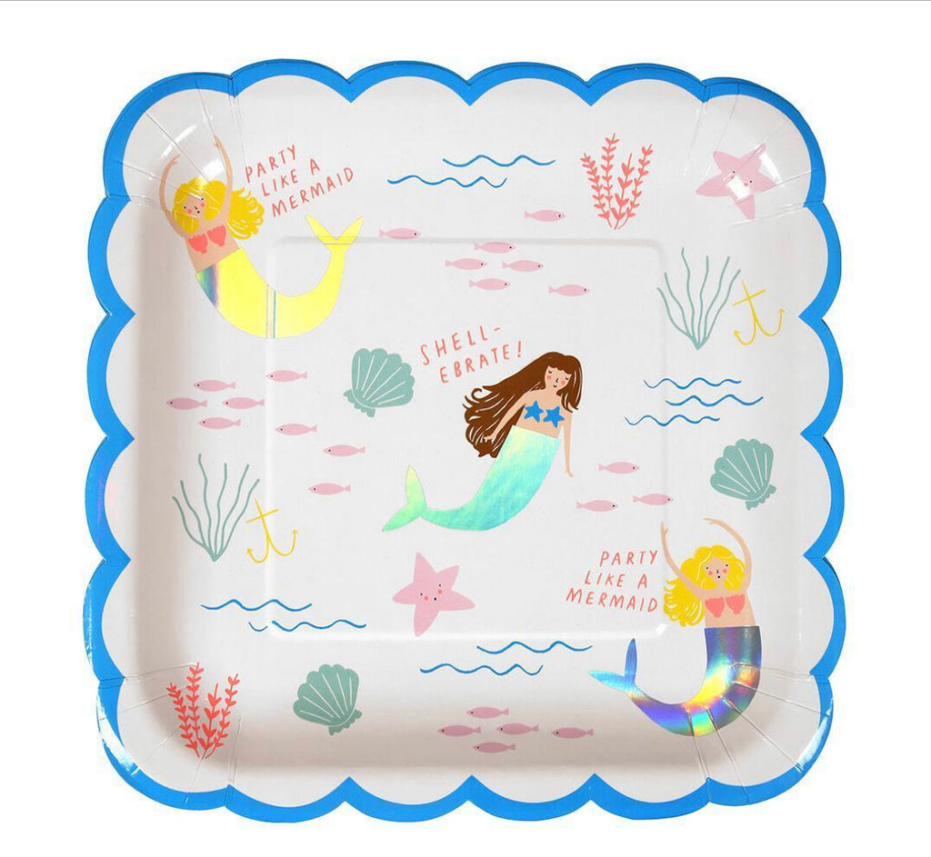 Let's Be Mermaids Large Plates