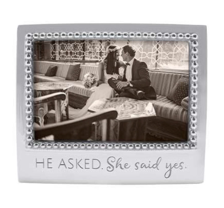 Mariposa He Asked. She Said Yes Picture Frame