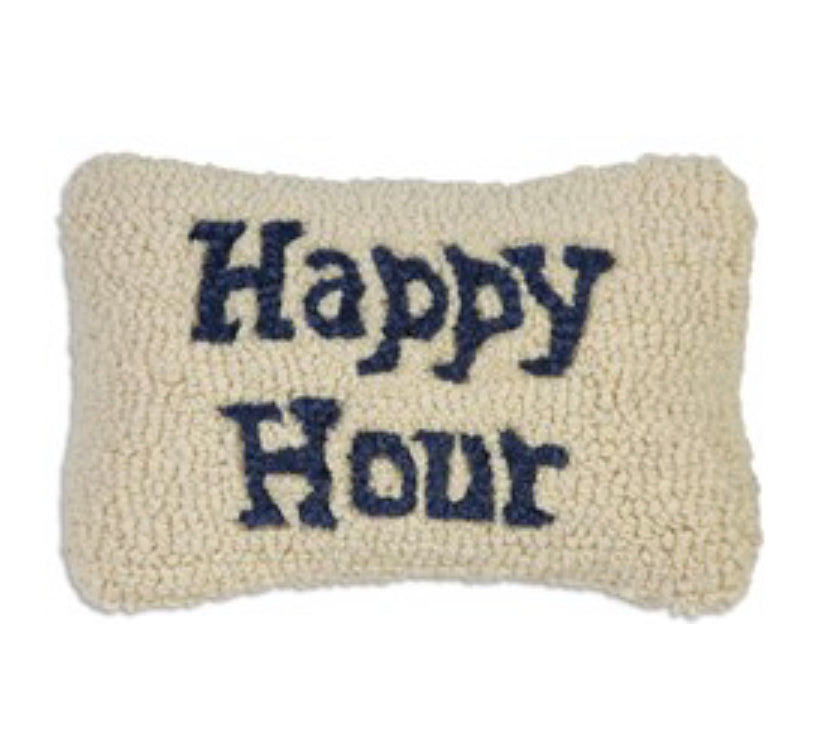 Happy hour hook pillow