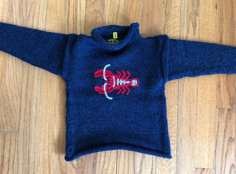 Navy With Lobster Sweater