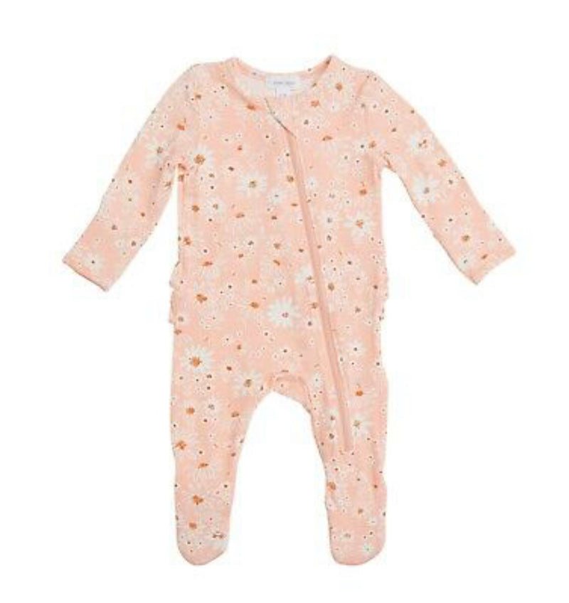 Angel Dear Daisy Chain Ruffled Back Zipper Footie